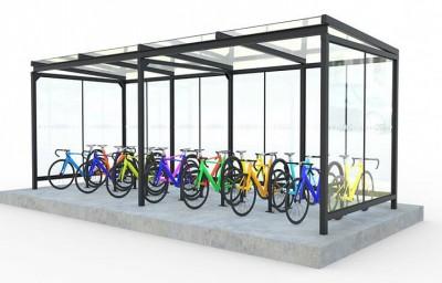 Крытые велопарковки в магазине ВЕЛОГОР