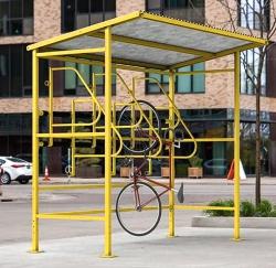 Крытая велопарковка Навес