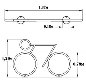 Велопарковка Велосипедист